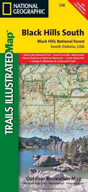 National Geographic Trails Illustrated Black Hills, South East, South Dakota By National Geo Maps